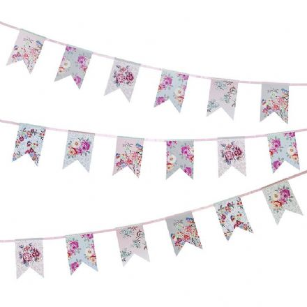 Truly Romantic Floral Bunting - 4m